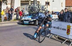 Il prologo 2013 di Lopez Garcia David Parigi del ciclista Nizza in Houi Immagini Stock Libere da Diritti