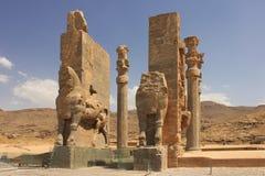 Il propylon a Persepolis (Iran) Immagine Stock