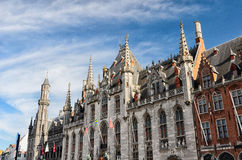 Il Provinciaal Hof (corte della provincia) a Bruges Immagini Stock