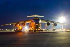IL76 przy Rzeszowskim Jasionka lotniskiem międzynarodowym Zdjęcie Royalty Free