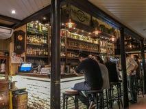 Il pub irlandese di periodi a Praga, Cecoslovacchia fotografia stock libera da diritti