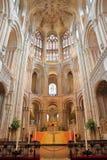 Il pulpitum e l'altare nella cattedrale di Norwich Immagini Stock Libere da Diritti