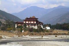 Il Punakha Dzong Fotografia Stock Libera da Diritti