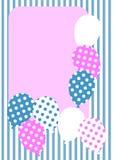 Il puntino di Polka balloons la scheda dell'invito royalty illustrazione gratis