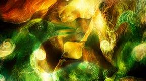 Il punto d'irradiazione elven le luci leggiadramente della creatura e di energia della donna ed il collage di Phoenix dell'uccell Fotografie Stock Libere da Diritti