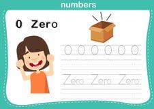 Il punto di collegamento ed i numeri stampabili si esercitano per i bambini di asilo e della scuola materna illustrazione di stock