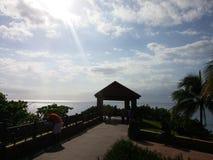 Il punto di incontro nei Caraibi Fotografia Stock