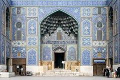 Il punto di riferimento famoso della moschea dello scià nella città Iran di Ispahan fotografia stock libera da diritti