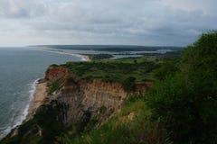 Il punto di vista di Barra fa l'estuario di kwanza, Bengo fotografie stock