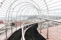 Il punto di vista del portone dell'entrata di Jawaharlal Nehru Stadium Shillong, è uno stadio di football americano a Shillong, i immagine stock