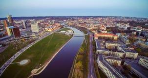 Il punto di vista dell'uccello di Vilnius Fotografie Stock