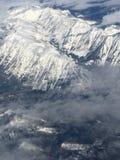 Il punto di vista dell'uccello su Rainier Mountain allo Stato del Washington fotografie stock