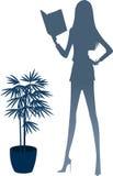 Il punto di vista della donna della siluetta royalty illustrazione gratis