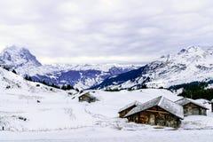Il punto di vista delle montagne delle alpi Immagini Stock