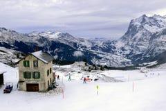 Il punto di vista delle montagne delle alpi Fotografia Stock Libera da Diritti