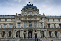 Il punto di vista di Wing Sully del Louvre Immagine Stock