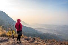 Il punto di vista di hillsKottappara di Kottapara è la più nuova aggiunta a turismo nel distretto di Idukki del Kerala fotografie stock