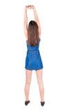 Il punto di vista posteriore della giovane donna si scalda Fotografia Stock Libera da Diritti