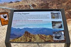 Il punto di Zabriskie di punto di vista, Death Valley, U.S.A. fotografia stock libera da diritti