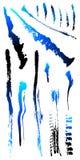 Il punto sporco dello splat della graffiatura del grunge ha fenduto le figure 2 Fotografie Stock