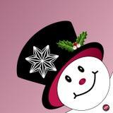 Il pupazzo di neve che dà una occhiata a muore della pagina Fotografia Stock