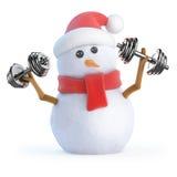il pupazzo di neve 3d risolve con i pesi Fotografia Stock