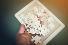 Il puzzle è un'armonia fra il gruppo non sarà impossibile immagine stock libera da diritti