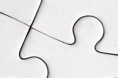 Il puzzle bianco Immagini Stock Libere da Diritti