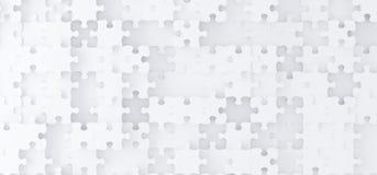 Il puzzle bianco astratto collega la vista superiore Immagine Stock