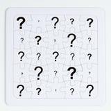 Il puzzle bianco fotografie stock