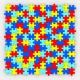 Il puzzle collega i diversi colori del fondo che si adattano insieme Immagine Stock