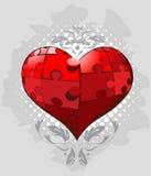 Il puzzle collega il vettore del cuore Fotografie Stock Libere da Diritti
