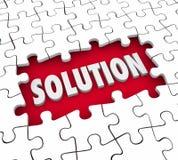 Il puzzle della soluzione collega Job Solve Challenge di finitura Fotografie Stock Libere da Diritti