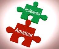 Il puzzle dilettante professionale mostra l'esperto e l'apprendista illustrazione vettoriale