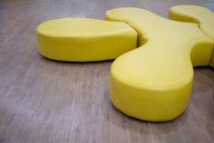 Il puzzle giallo del cuoio dell'unità di elaborazione defeca adatto a entertainmen unici Immagini Stock