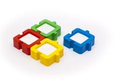 Il puzzle incornicia il quadrato fotografia stock