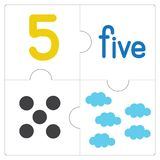 Il puzzle number-5 Fotografia Stock