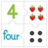 Il puzzle number-4 Fotografia Stock