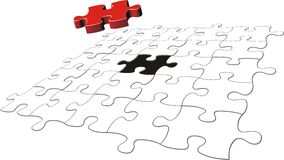 Il puzzle risolve illustrazione vettoriale