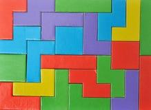 Il puzzle variopinto collega la priorità bassa Immagini Stock Libere da Diritti