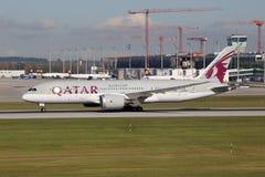 Il Qatar Boeing 787 Dreamliner Fotografia Stock