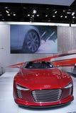 Il Qatar Motorshow 2011 - Audi E-tron Fotografie Stock Libere da Diritti