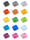 Il quadrato abbottona 3D Fotografie Stock