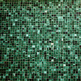 Il quadrato affila mattoni della parete delle mattonelle di verde di struttura della foto i piccoli d'annata Immagine Stock Libera da Diritti