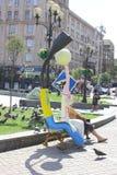 il quadrato centrale a Kiev Fotografia Stock Libera da Diritti