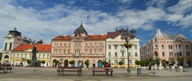 Il quadrato centrale a Novi Sad Fotografie Stock Libere da Diritti