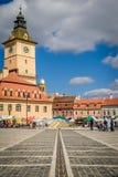 Il quadrato del Consiglio, Brasov, Romania Immagine Stock