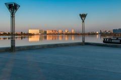 Il quadrato del lago Immagine Stock Libera da Diritti