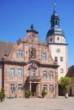 Il quadrato del mercato con il municipio ed il municipio si elevano in Ettlingen Immagini Stock