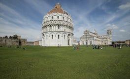 Il quadrato della cattedrale o persino i miracoli Pisa Toscana Italia Europa Immagini Stock